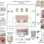 Rose Cottage Guest Bedroom bed wall design-01