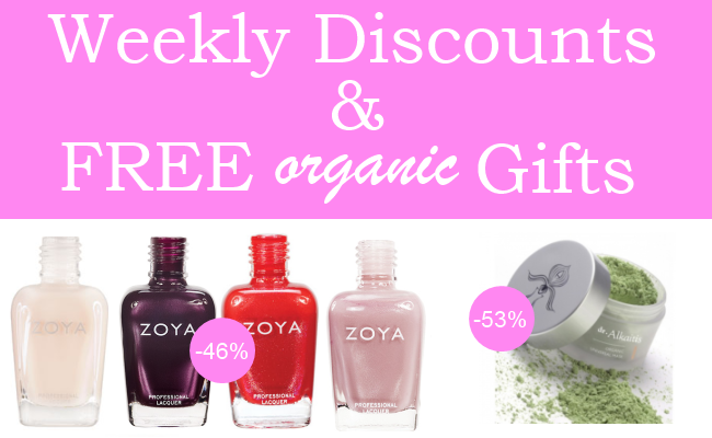 Weekly Discounts and Free Organic Beauty Gifts #43