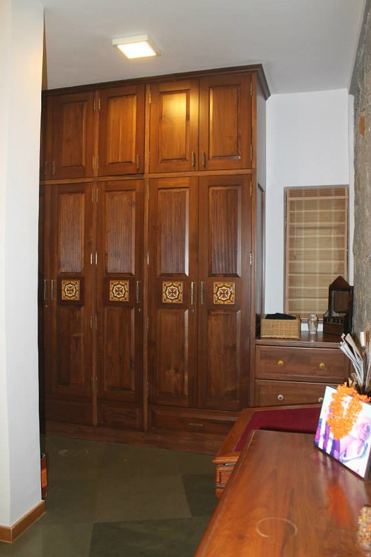 rich wooden cabinets