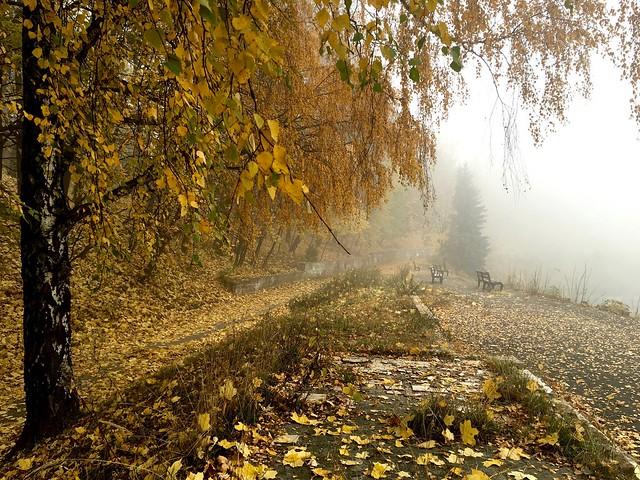 Bogdan Khmelnytskiy Park. Lviv, Ukraine