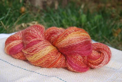 Handspun Wensleydale yarn by irieknit