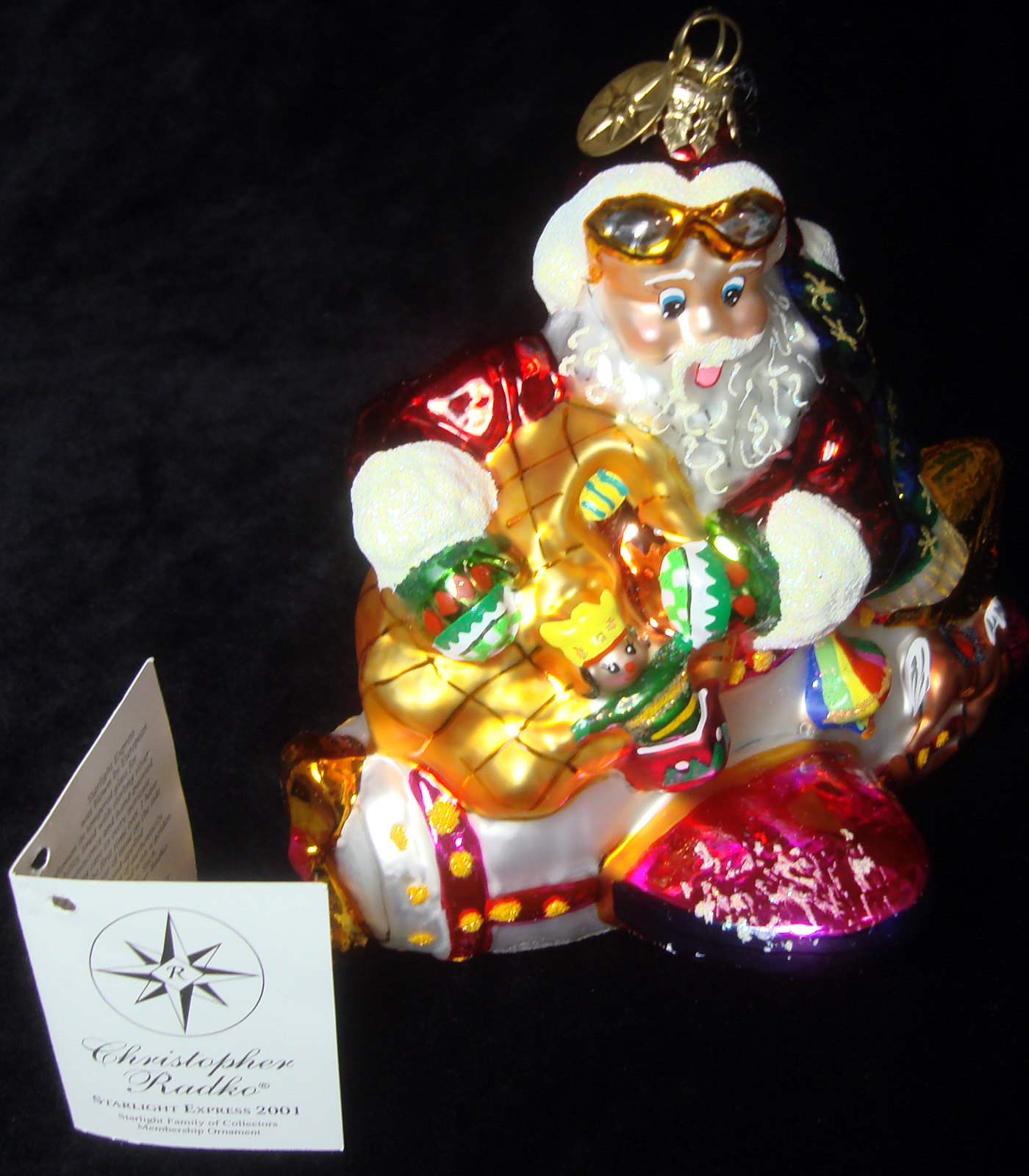 113c9f0c90c95 Details about CHRISTOPHER RADKO ORNAMENT STARLIGHT EXPRESS 01-0184-0  RETIRED RARE 01-SP-84