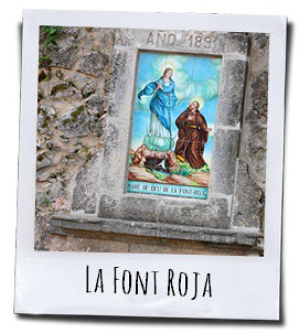 De fontein van het bedevaartsoord Font Roja in de buurt van Alcoy in het achterland van Alicante