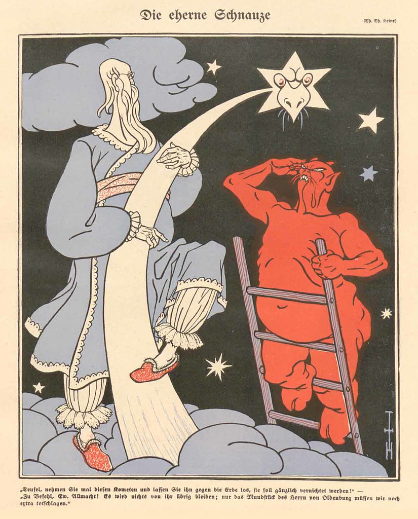 Thomas Theodor Heine - The Brazen Muzzle, 1910