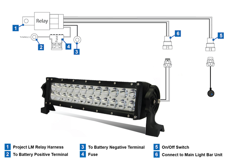 blog - using relays with led light bars, Wiring diagram