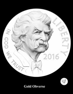 Mark Twain Gold Obverse