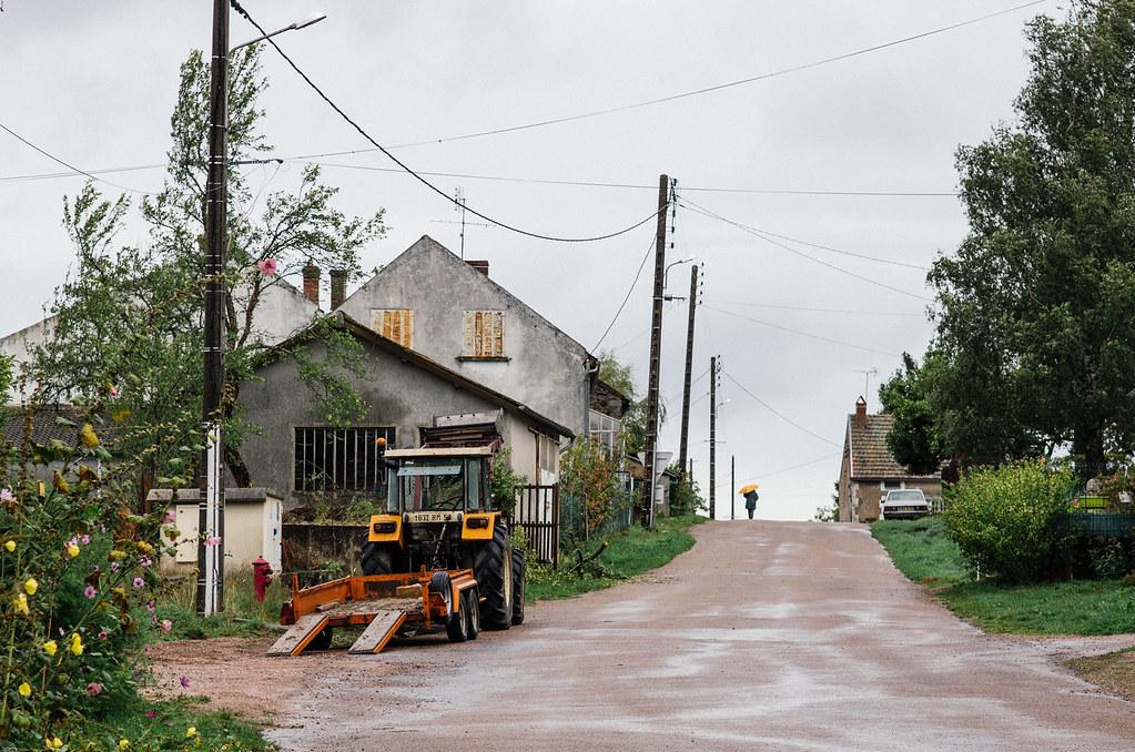 Grande traversée du Morvan - Dans les rues de Marigny-l'église