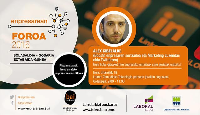 Enpresarean Foroa: Alex Gibelalde