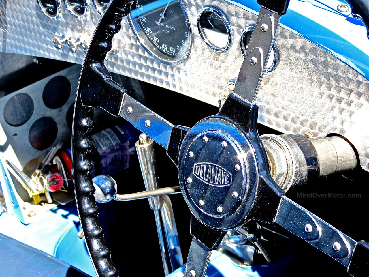 Delahaye Racecar Laguna Seca Paddock