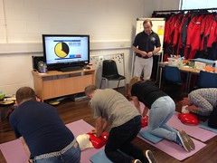 Today's #RYA First Aid at Sea and #STCW 95 Elementary First Aid Course - students getting to grips with the Primary Survey and essential Basic Life Support CPR. Could you administer Basic Life Support to a casualty to save a life??