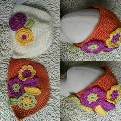 #flower#bobblehat #fleeced #elegant #cute  #hat #gloves #brand #accessory #yam #crocheting #colorful #crochet #knit #headwrap #girls #blogger #pattern #new #style  #knitting  #winter #gift #stylist  #snow #design #fashionclothesoutlet #handmade A411125  1