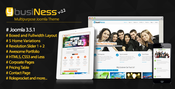 YbusiNess v2.0 - Responsive Joomla Business Template