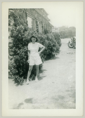 Girl at the side of the house