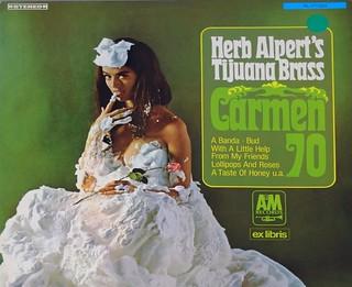 "HERB ALPERT & THE TJUANA BRASS CARMEN 70 WHIPPED CREAM EX-LIBRIS AUSTRIA 12"" LP VINYL"