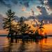 Weslemkoon Island Sunset by Rodrick Dale