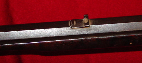 Samuel Smith Rifle - Made At Astoria, Illinois - Rear Sight
