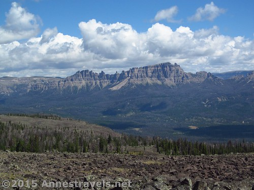 Pinnacle Peak from Lava Mountain, near Togwotee Pass, Shoshone National Forest & Bridger-Teton National Forest, Wyoming