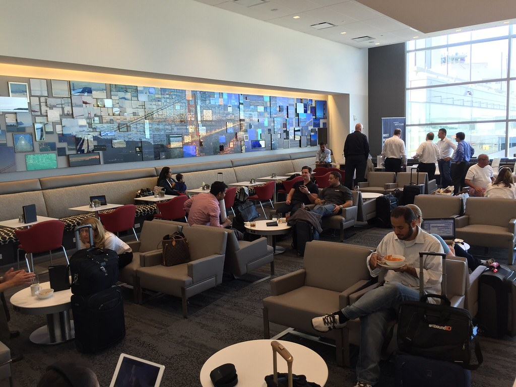 The new Delta Sky Club at SFO. For a blog post.