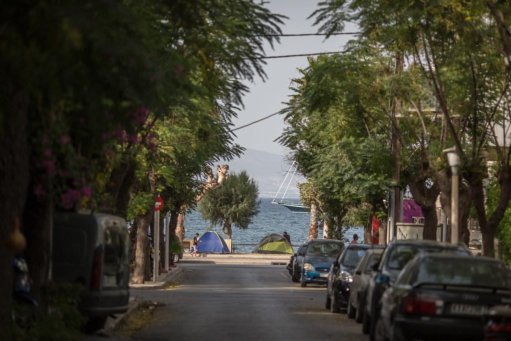 Flyktningleir i bybildet