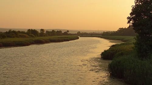 bridge sunset nature water river landscape view bulgaria sunlit burgas primorsko strandzha dyavolskareka diabelskarzeka