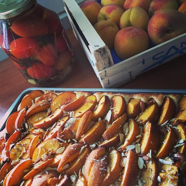сходила вчера на рынок 😂 первые в моей жизни помидоры и что бы ещё сделать из персиков 👀 #mercato #peach #iloveitaly #tomato