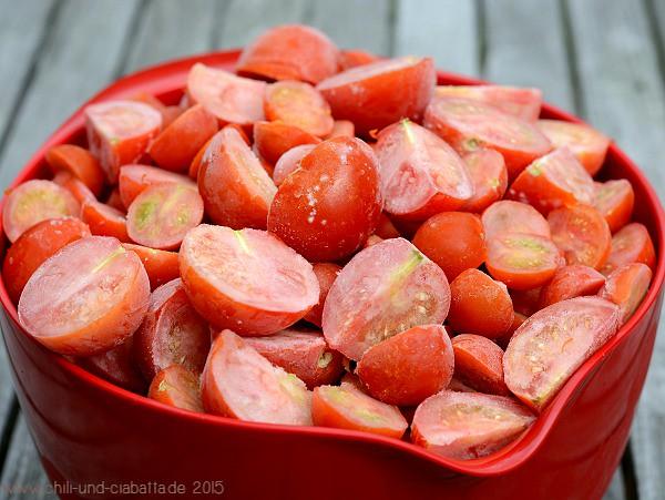 Gefrorene Tomaten