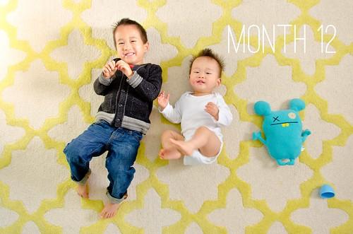 Oliver & Elliot - Month 12