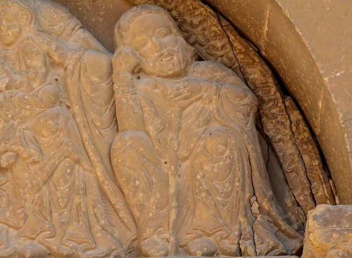 Biota (Aragon), San Miguel - sculpture romane - 06