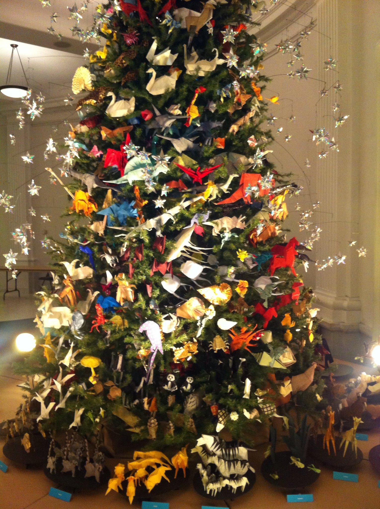 Origami Tree at the American Museum of Natural History