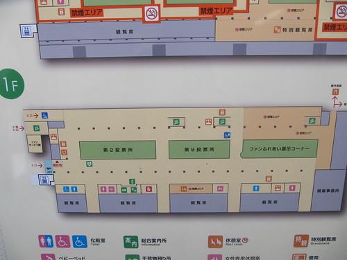 金沢競馬場の1階フロアマップ