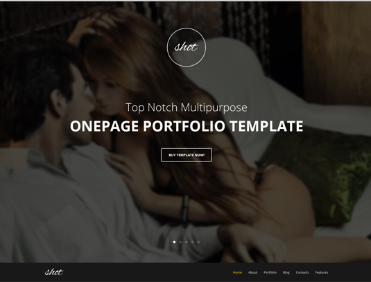 GT3Themes Photography One Page Bootstrap Template