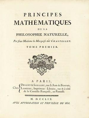 Traducción al francés de Principia