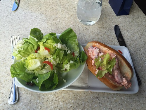 Simple Salad and Lobster Roll at Hexx.