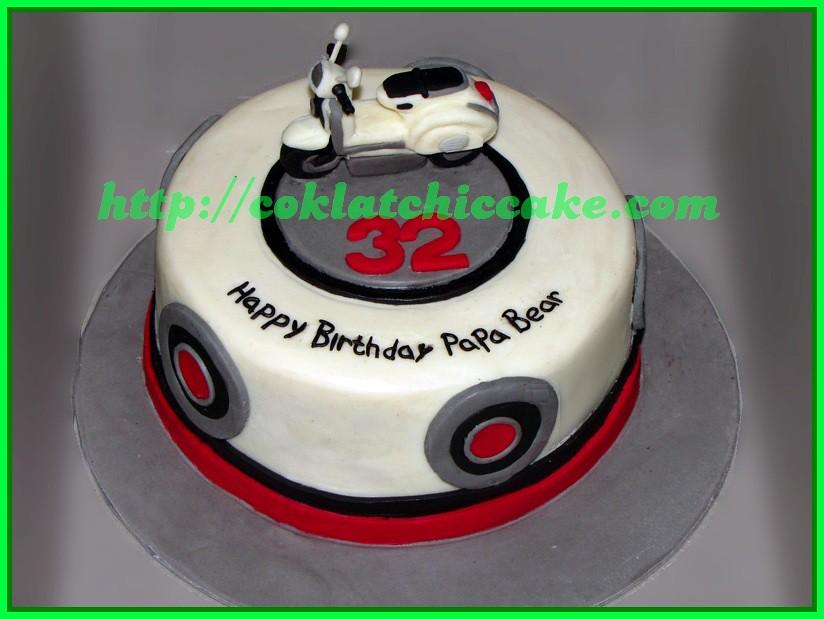 Cake Vespa PAPA Jual Kue Ulang Tahun