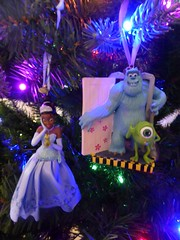 Tianna & Monsters Inc ornaments