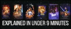 """The Story of """"STAR WARS""""   Six Episodes in 9 Minutes"""