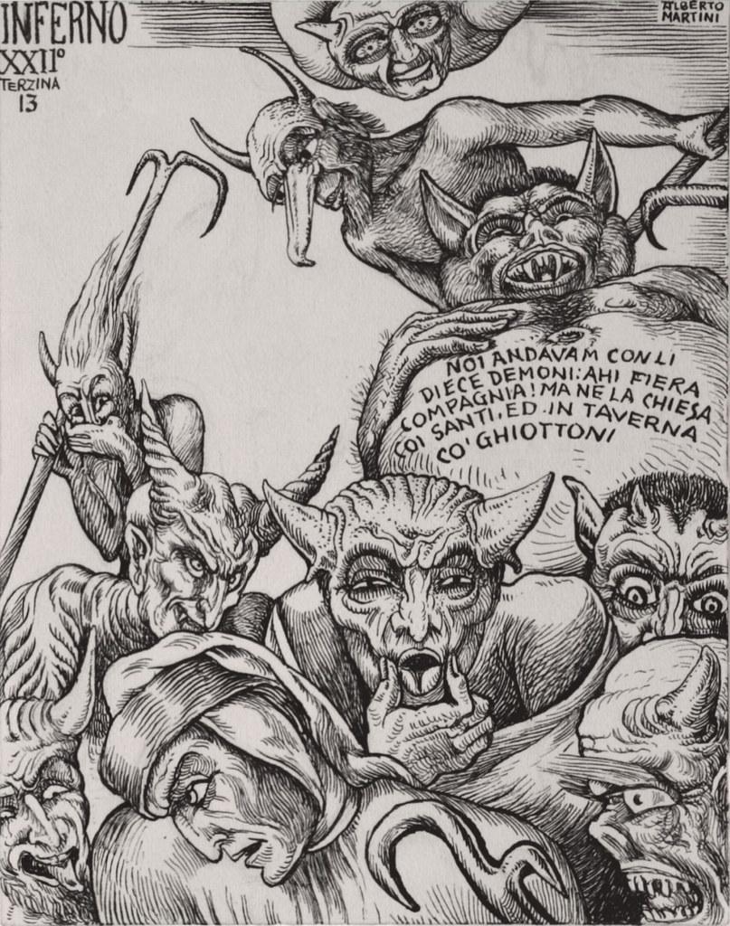 Alberto Martini, Dante (Inferno, XXII), 1937