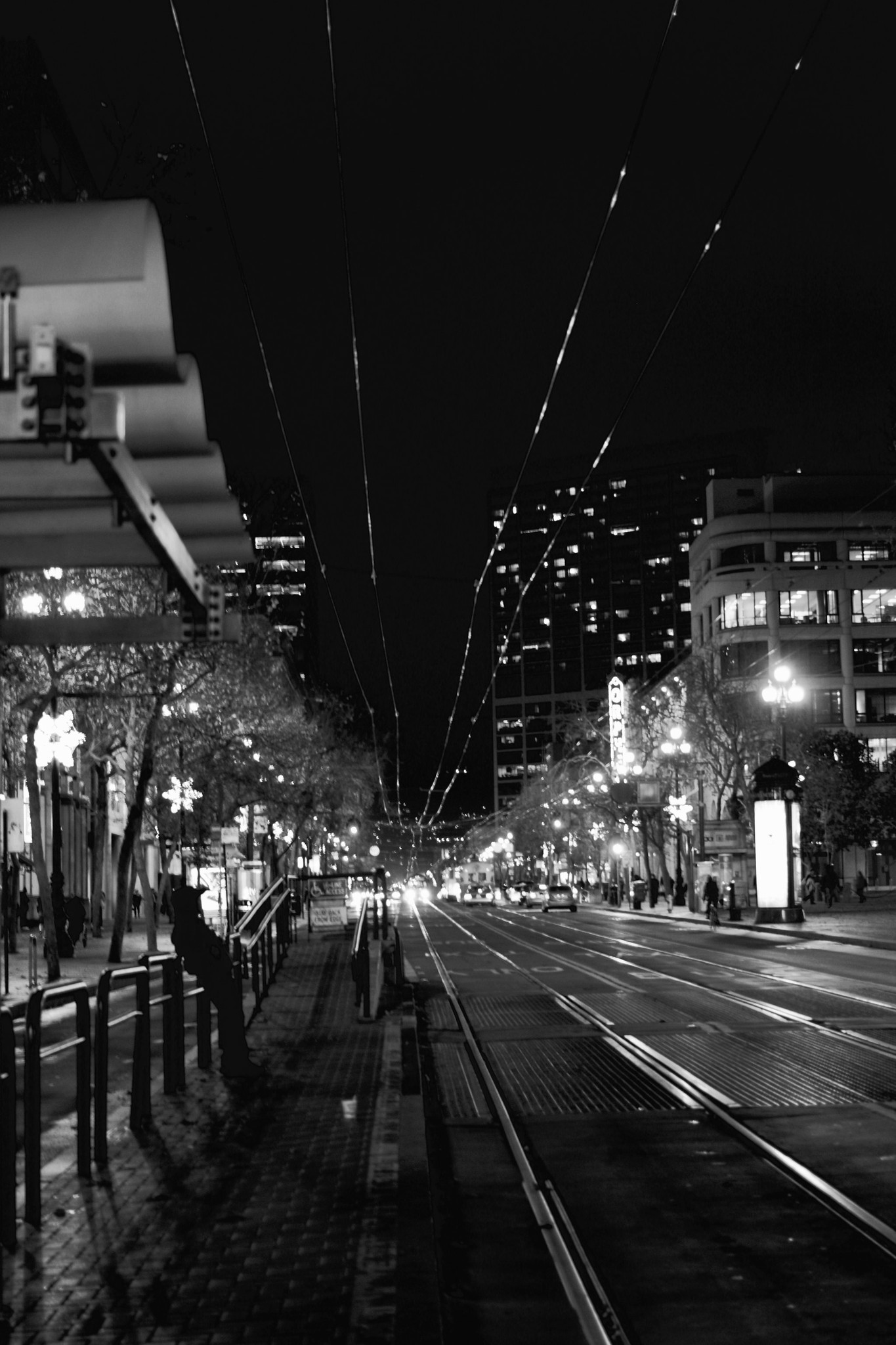 San Francisco - Market Street at Night