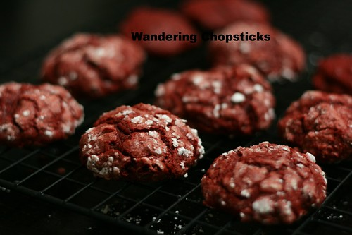 Red Velvet Crackle Cookies 1