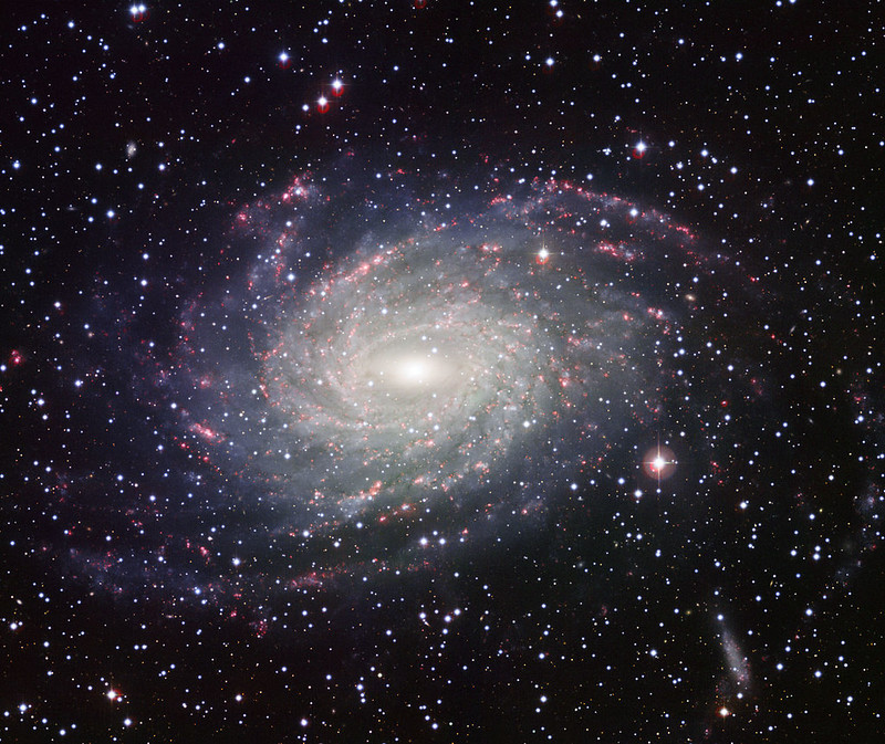 The picture of NGC 6744, a galaxy similar to Milky Way, taken with the Wide Field Imager