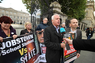 Seán Crowe supporting #JobstownNotGuilty