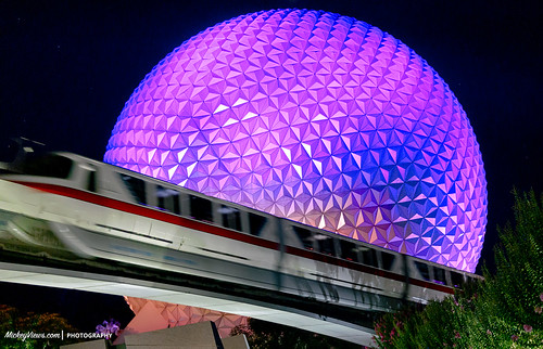 #EPCOT Ball Spaceship Earth Disney Monorail 2015