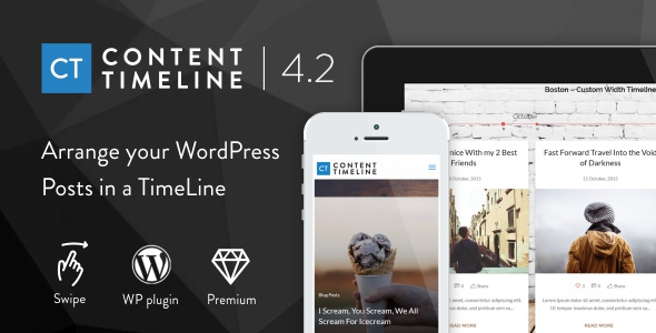 Content Timeline v4.3.2 – Responsive WordPress Plugin for Displaying Posts/Categories in a Sliding Timeline