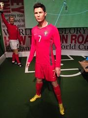 Cristiano Ronaldo figure at Madame Tussauds London