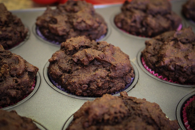 Trickster Treat Double Chocolate Muffins