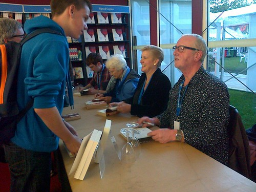 James Dawson, Elizabeth Laird, Tanya Landman and David Almond
