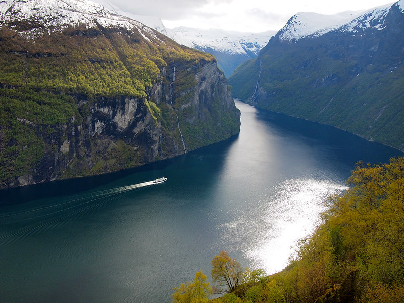 Geirangerfjord from View from Ørnesvingen (Eagle's Bend)