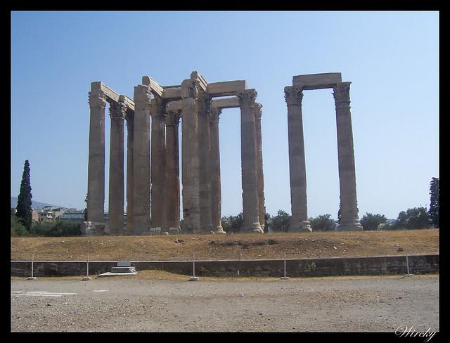 Grecia visita Atenas - Templo de Zeus Olímpico