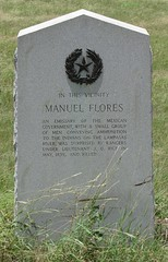 Photo of Manuel Flores black plaque