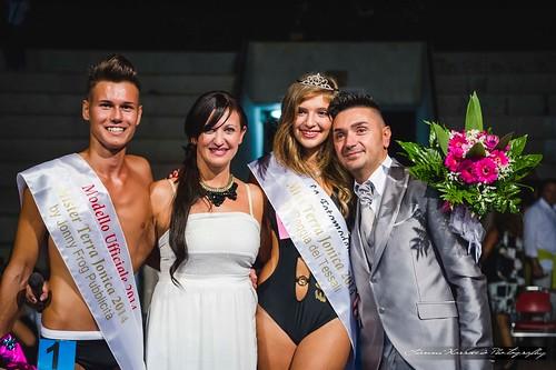 Giuseppe Stigliano e Rosa Colavito con Selenia Spronato e Carmine Beretta Miss e Mister terra Jonica 2014